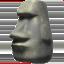 Moai Emoji (Apple)
