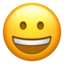 Grinning Face Emoji (Apple)
