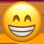 Beaming Face With Smiling Eyes Emoji (Apple)
