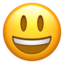 Grinning Face With Big Eyes Emoji (Apple)