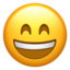 Grinning Face With Smiling Eyes Emoji (Apple)