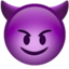 Smiling Face With Horns Emoji (Apple)