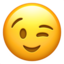 Winking Face Emoji (Apple)