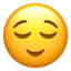 Relieved Face Emoji (Apple)