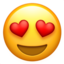 Smiling Face With Heart-Eyes Emoji (Apple)