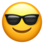 Smiling Face With Sunglasses Emoji (Apple)
