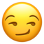 Smirking Face Emoji (Apple)