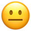 Neutral Face Emoji (Apple)