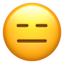 Expressionless Face Emoji (Apple)