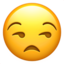 Unamused Face Emoji (Apple)