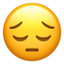Pensive Face Emoji (Apple)