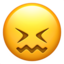 Confounded Face Emoji (Apple)