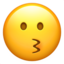 Kissing Face Emoji (Apple)