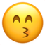Kissing Face With Smiling Eyes Emoji (Apple)