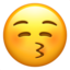 Kissing Face With Closed Eyes Emoji (Apple)