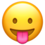 Face With Tongue Emoji (Apple)