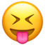 Squinting Face With Tongue Emoji (Apple)