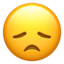 Disappointed Face Emoji (Apple)