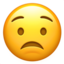 Worried Face Emoji (Apple)