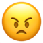 Angry Face Emoji (Apple)