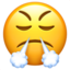 Face With Steam From Nose Emoji (Apple)