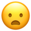 Frowning Face With Open Mouth Emoji (Apple)