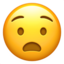 Anguished Face Emoji (Apple)