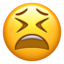 Tired Face Emoji (Apple)