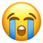 Loudly Crying Face Emoji (Apple)
