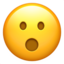 Face With Open Mouth Emoji (Apple)