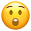 Astonished Face Emoji (Apple)