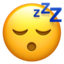 Sleeping Face Emoji (Apple)