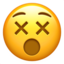 Dizzy Face Emoji (Apple)