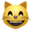 Grinning Cat Face With Smiling Eyes Emoji (Apple)