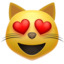 Smiling Cat Face With Heart-Eyes Emoji (Apple)
