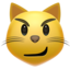 Cat Face With Wry Smile Emoji (Apple)