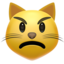 Pouting Cat Face Emoji (Apple)