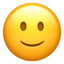 Slightly Smiling Face Emoji (Apple)