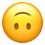 Upside-Down Face Emoji (Apple)