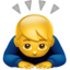 Person Bowing Emoji (Apple)