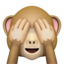 See-No-Evil Monkey Emoji (Apple)