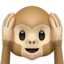 Hear-No-Evil Monkey Emoji (Apple)