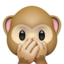 Speak-No-Evil Monkey Emoji (Apple)