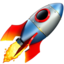 Rocket Emoji (Apple)