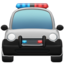 Oncoming Police Car Emoji (Apple)