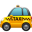 Taxi Emoji (Apple)