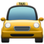 Oncoming Taxi Emoji (Apple)