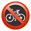 No Bicycles Emoji (Apple)