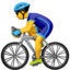 Person Biking Emoji (Apple)