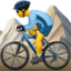 Person Mountain Biking Emoji (Apple)